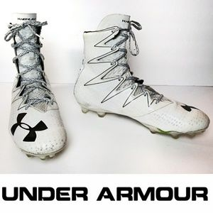 Under Armour 12.5 High Top White Cleats
